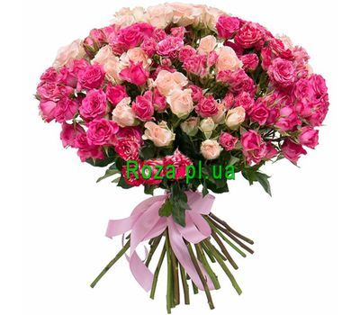 """""""A beautiful bouquet of bush roses"""" in the online flower shop roza.pl.ua"""