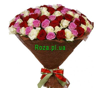 """""""Chic bouquet of 101 roses"""" in the online flower shop roza.pl.ua"""