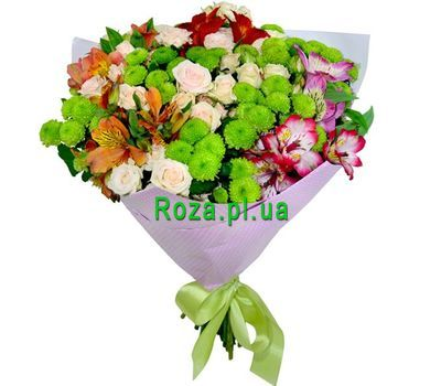 """""""Mixed bouquet of flowers"""" in the online flower shop roza.pl.ua"""