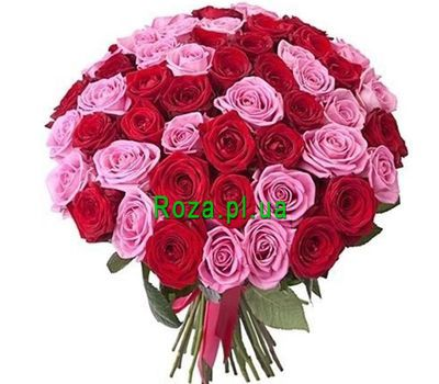 """Stunning bouquet of 51 roses"" in the online flower shop roza.pl.ua"