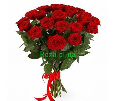 """Amazing bouquet of red roses"" in the online flower shop roza.pl.ua"