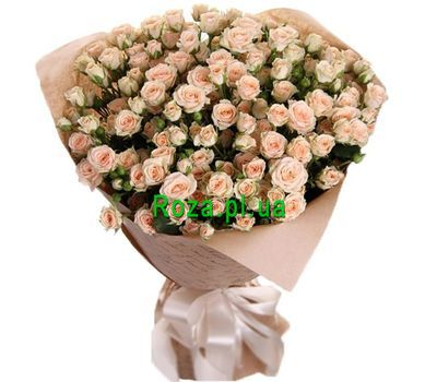 """A magnificent bouquet of bush roses"" in the online flower shop roza.pl.ua"