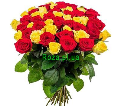 """Bright bouquet of 51 roses"" in the online flower shop roza.pl.ua"