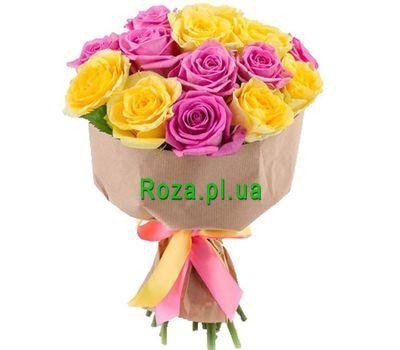 """""""Яркий желто-розовый букет"""" в интернет-магазине цветов roza.pl.ua"""