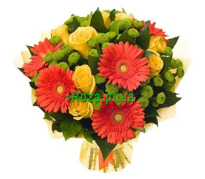 """""""A cheerful bouquet of flowers"""" in the online flower shop roza.pl.ua"""