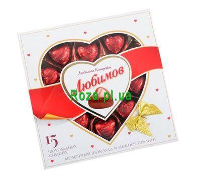 """""""Конфеты Любимов Шоколадные сердечки"""" в интернет-магазине цветов roza.pl.ua"""