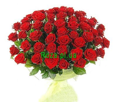 """Bouquet of 65 red roses"" in the online flower shop roza.pl.ua"