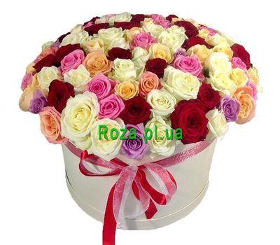 """""""101 роза в шляпной коробке"""" в интернет-магазине цветов roza.pl.ua"""