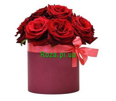 """""""11 красных роз в коробке"""" в интернет-магазине цветов roza.pl.ua"""