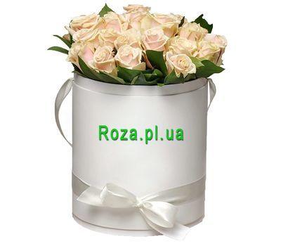 """""""Букет кремовых роз в коробке"""" в интернет-магазине цветов roza.pl.ua"""