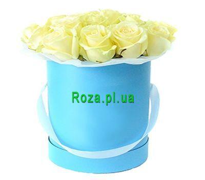 """""""Коробка с белыми розами"""" в интернет-магазине цветов roza.pl.ua"""