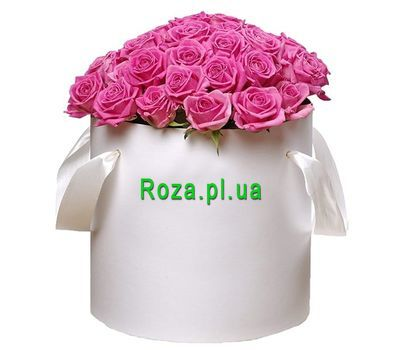 """Box with pink roses"" in the online flower shop roza.pl.ua"