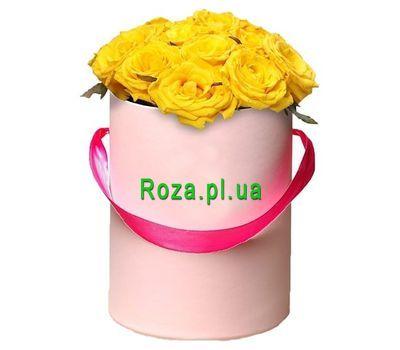 """""""Желтые розы в коробке"""" в интернет-магазине цветов roza.pl.ua"""