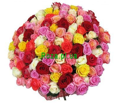 """Bouquet of 101 roses"" in the online flower shop roza.pl.ua"