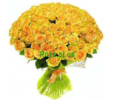 """VIP bouquet 101 yellow roses"" in the online flower shop roza.pl.ua"