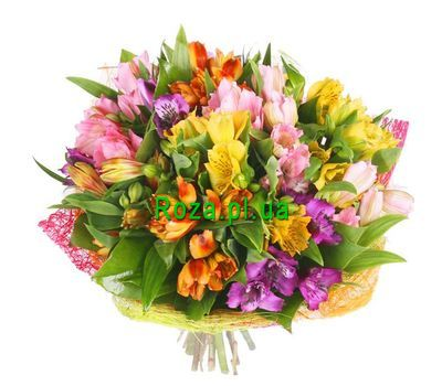 """Bouquet of 15 alstromeries"" in the online flower shop roza.pl.ua"