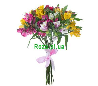 """Bouquet of 11 multi-colored roses"" in the online flower shop roza.pl.ua"