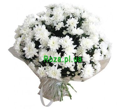 """Bouquet of 21 white chrysanthemums"" in the online flower shop roza.pl.ua"