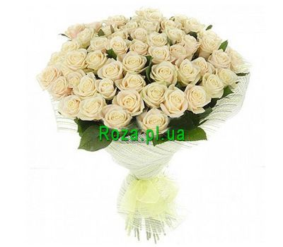 """A bouquet of 51 white roses"" in the online flower shop roza.pl.ua"