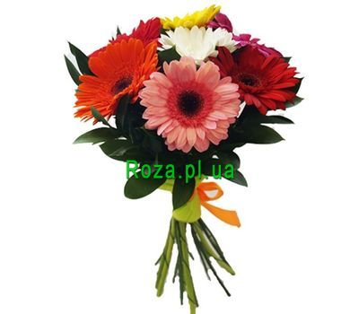 """Bouquet of 7 gerberas"" in the online flower shop roza.pl.ua"