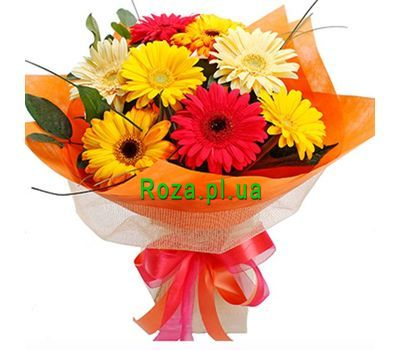 """Bouquet of 9 gerberas"" in the online flower shop roza.pl.ua"