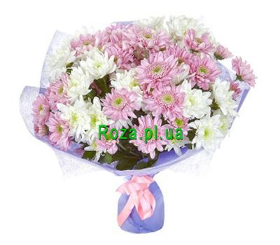 """Bouquet of 15 chrysanthemums"" in the online flower shop roza.pl.ua"