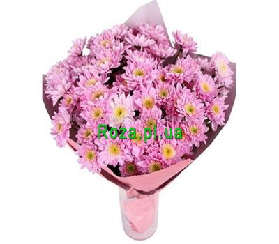 """Bouquet of 13 pink chrysanthemums"" in the online flower shop roza.pl.ua"