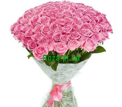 """""""VIP bouquet 101 pink rose"""" in the online flower shop roza.pl.ua"""