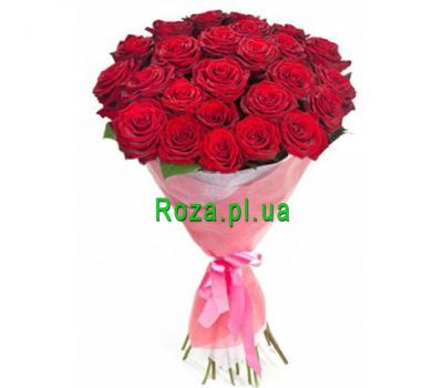 """Bouquet of 25 red roses"" in the online flower shop roza.pl.ua"