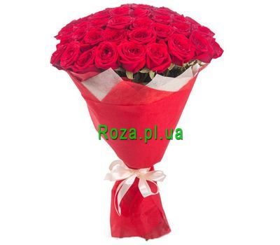 """Bouquet of 33 red roses"" in the online flower shop roza.pl.ua"