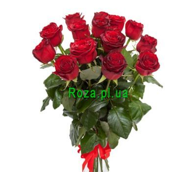 """""""Bouquet of 15 red roses"""" in the online flower shop roza.pl.ua"""