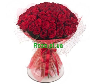 """Bouquet of 45 red roses"" in the online flower shop roza.pl.ua"