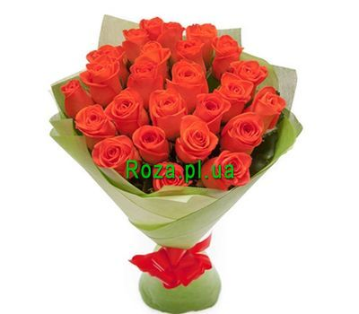 """Bouquet of 25 orange roses"" in the online flower shop roza.pl.ua"