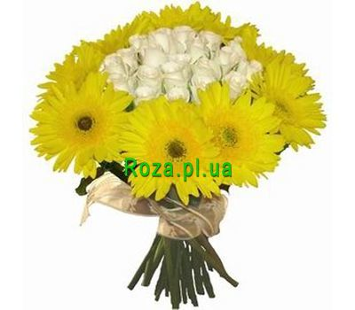 """Bouquet of 15 roses and 10 gerberas"" in the online flower shop roza.pl.ua"