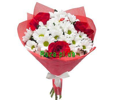 """""""Букет из 3 роз и 4 хризантем"""" в интернет-магазине цветов roza.pl.ua"""