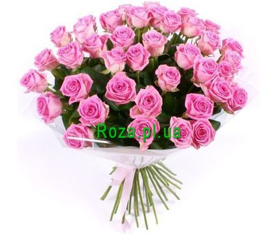 """""""Bouquet of 51 Pink Roses"""" in the online flower shop roza.pl.ua"""
