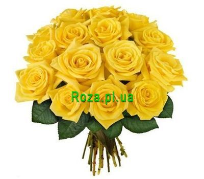 """Bouquet of 17 yellow roses"" in the online flower shop roza.pl.ua"