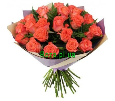 """Bouquet of 27 orange roses"" in the online flower shop roza.pl.ua"