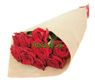 """Bouquet of 9 red roses"" in the online flower shop roza.pl.ua"