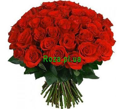 """Bouquet of 55 red roses"" in the online flower shop roza.pl.ua"