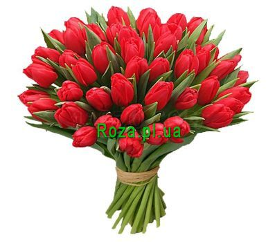 """Bouquet of 51 tulips"" in the online flower shop roza.pl.ua"