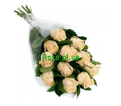 """Bouquet of 11 Cream Roses"" in the online flower shop roza.pl.ua"