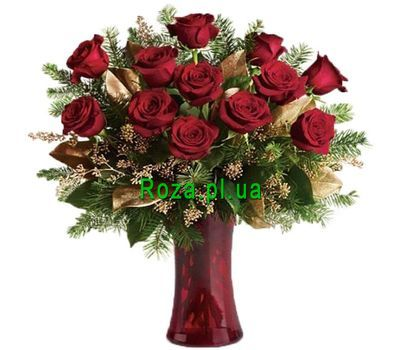 """Bouquet of 15 red roses"" in the online flower shop roza.pl.ua"