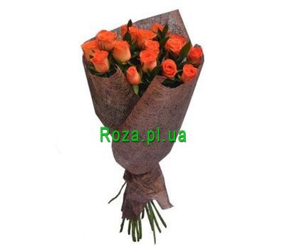 """Bouquet of 19 orange roses"" in the online flower shop roza.pl.ua"