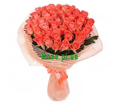 """Bouquet of 65 orange roses"" in the online flower shop roza.pl.ua"