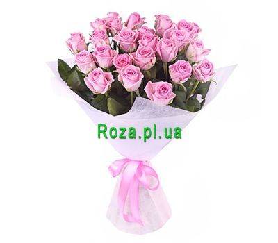 """Bouquet of 25 pink roses"" in the online flower shop roza.pl.ua"