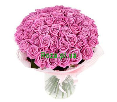 """Bouquet of 55 pink roses"" in the online flower shop roza.pl.ua"