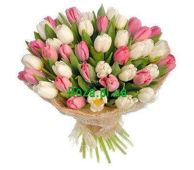 """Bouquet of 31 Tulips"" in the online flower shop roza.pl.ua"