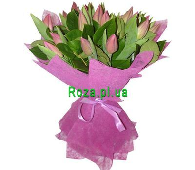 """Bouquet of 17 Tulips"" in the online flower shop roza.pl.ua"
