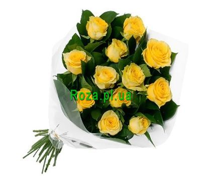 """Букет із 13 жовтих троянд"" в интернет-магазине цветов roza.pl.ua"